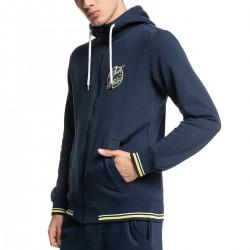 QUIKSILVER Sportsline Block - Men's Full Zip Sweatshirt - Navy Blazer