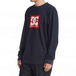 DC Square Star - Long Sleeve T-Shirt for Men - Navy Blazer