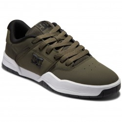 DC Central - Leather Shoes for Men - Olive Night