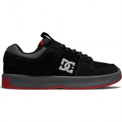 DC Lynx Zero - Leather Shoes for Men - Black/Grey/Red