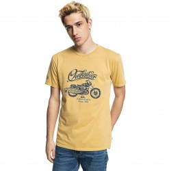 QUIKSILVER Top Of The Hour T-Shirt - Nugget Gold