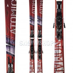 ATOMIC CRIMSON Ti SKIS + EVOX 11