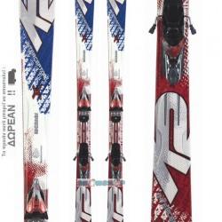 K2 APACHE INTERCEPTOR Skis + Marker M2 11.0 TC Bindings 10