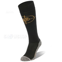 K2 SILENCER SKI SOCKS Black/Gold