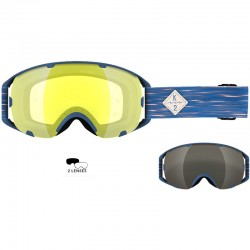 K2 SOURCE BLEACHED NAVY Yellow flash+Silver Earth ΜΑΣΚΑ ME 2 ΦΑΚΟΥΣ