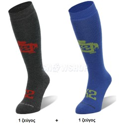 K2 THE JUVY SKI SOCKS Black/Blue ΠΑΙΔΙΚΕΣ (2 ΖΕΥΓΗ)