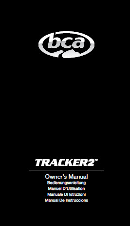 BCA TRACKER 2 MANUAL