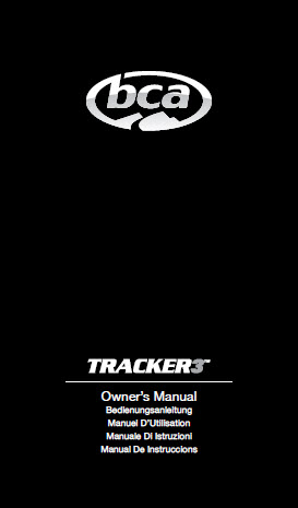 BCA TRACKER 3 manual
