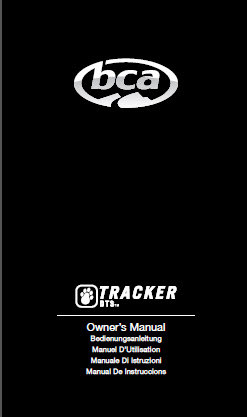 BCA TRACKER DTS MANUAL