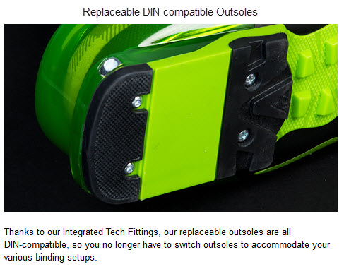 K2 Replaceable DIN-compatible Outsoles FREERIDE