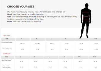 ROSSIGNOL MEN SIZE CHART Small