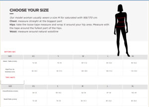 ROSSIGNOL WOMEN SIZE CHART Small