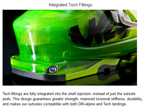 K2 Integrated Tech Fittings FREERIDE