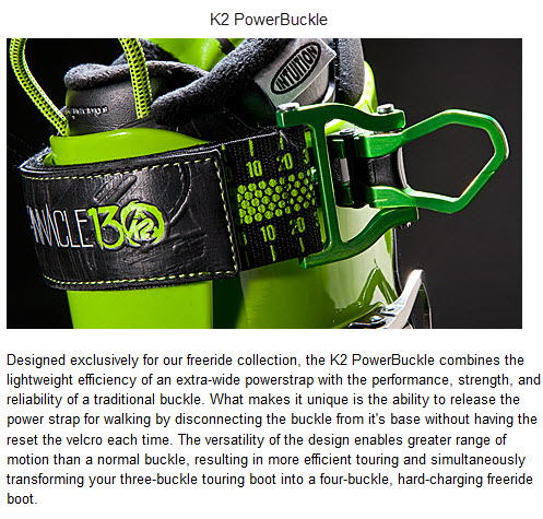 K2 PowerBuckle FREERIDE