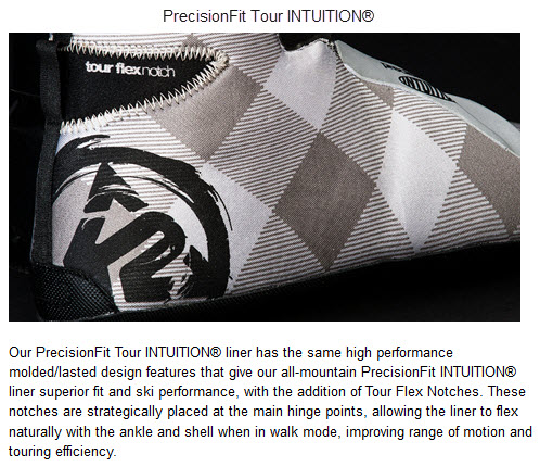 K2 PrecisionFit Tour INTUITION FREERIDE